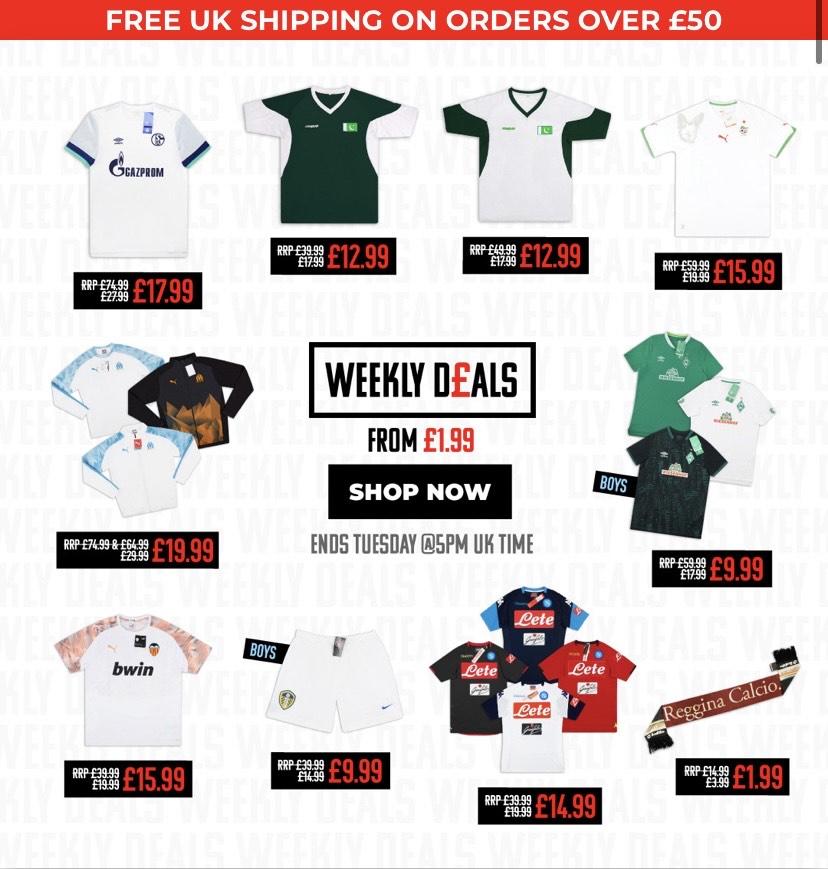 Camisetas y chaquetas de fútbol a 20€