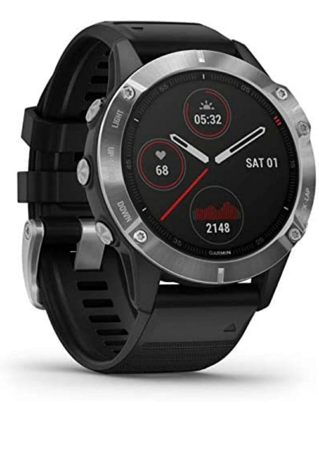 Garmin fēnix 6 - Reloj GPS multideporte definitivo con sensores, VO2 Max, frecuencia cardíaca, carga de entrenamiento (Envío incluido)