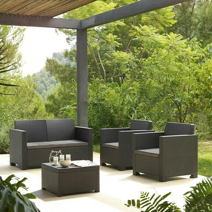 Conjunto sofá + 2 sillones + mesita