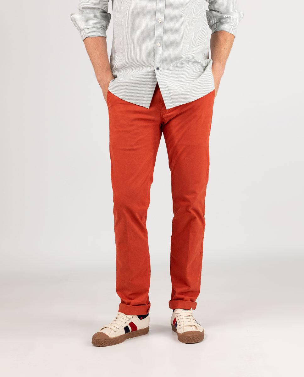 Pantalón Chino Naranja El Ganso