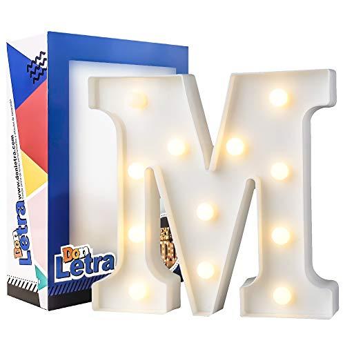 Letras Luminosas Decorativas con Luces LED