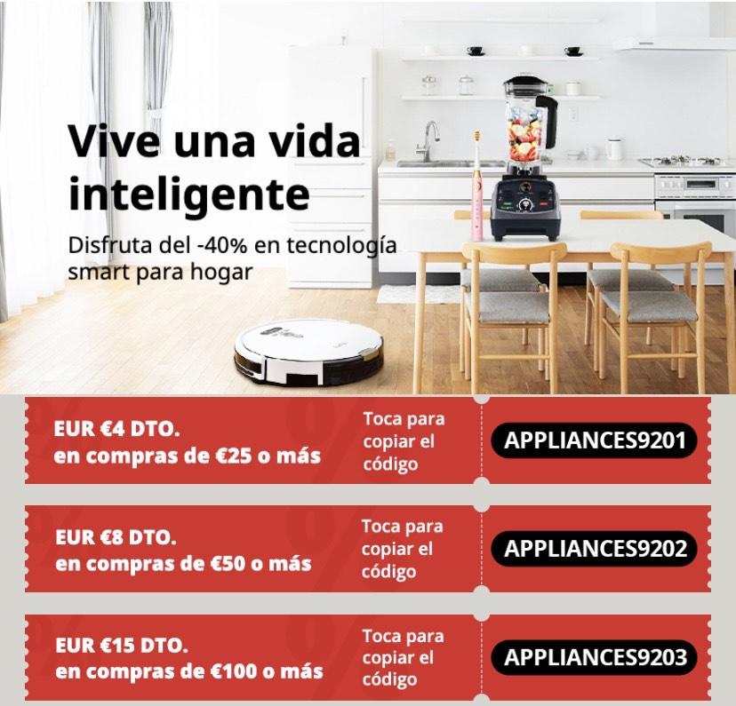 Cupones AliExpress tecnología hogar