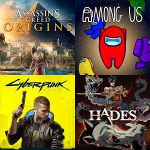 Among us, Hades o Assassin's Creed, Cybperpunk 2077 [Epic, ES-RUS]
