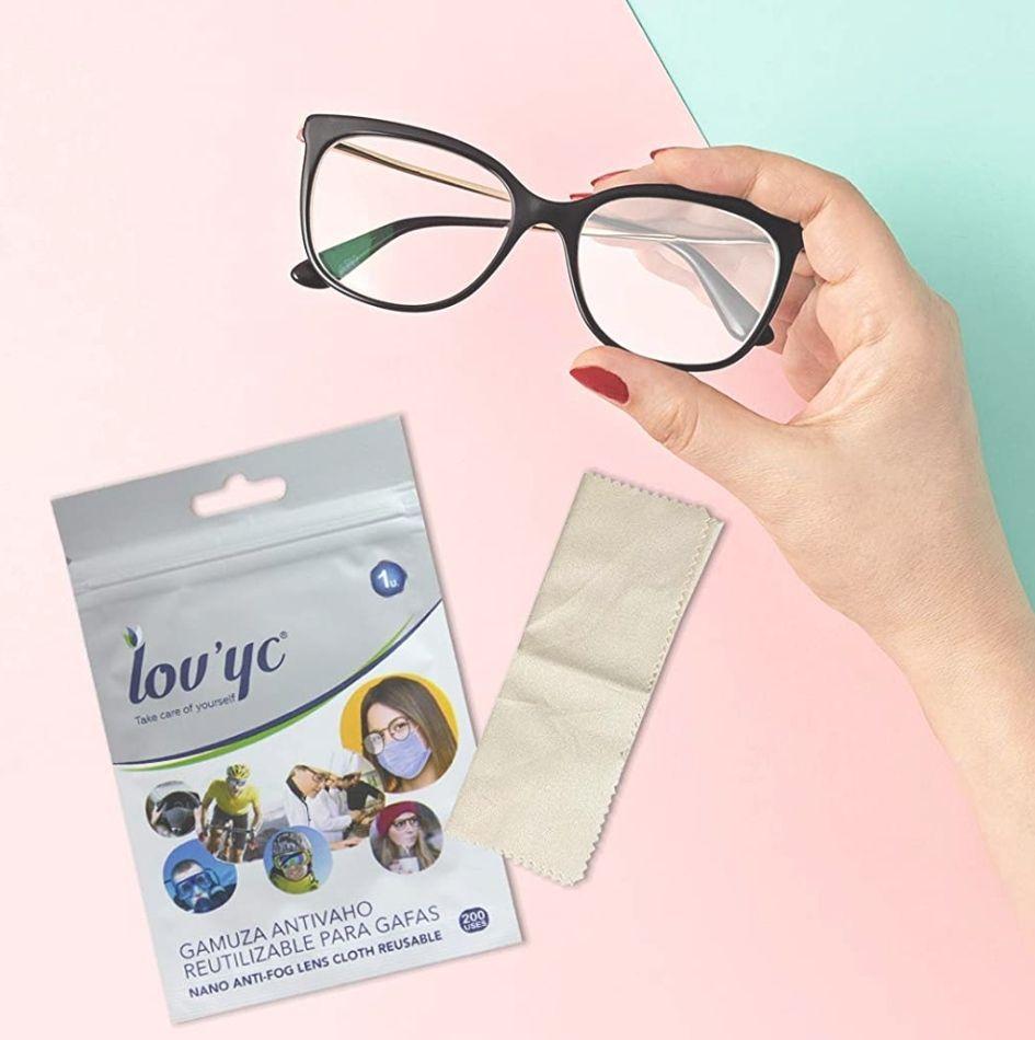 Gamuza ANTIVAHO Reutilizable para Gafas y Lentes