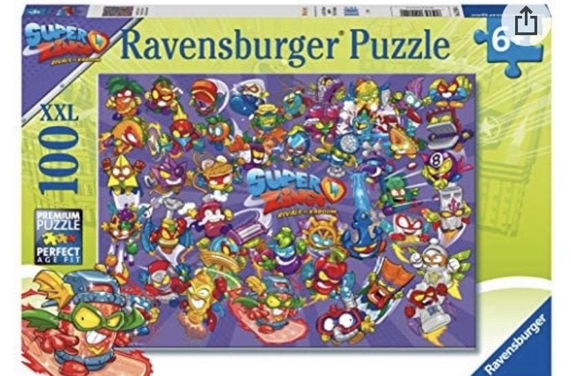 Ravensburger 12914 Puzzle Super Zings, 100 piezas XXL
