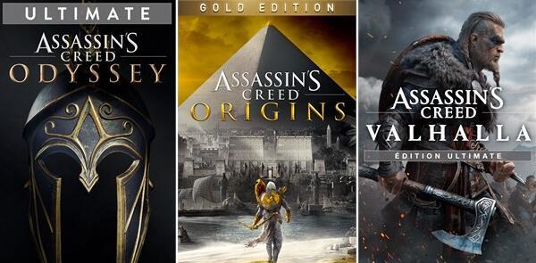 [PC] Assassin's Creed Odyssey Ultimate Edition a 9,21€ - Origins Gold a 9,65€ - Valhalla Standard a 24,11€ y más juegos (EPIC / BR - VPN)