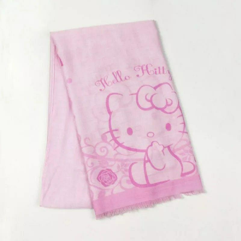 Bufanda con estampado floral de Hello Kitty