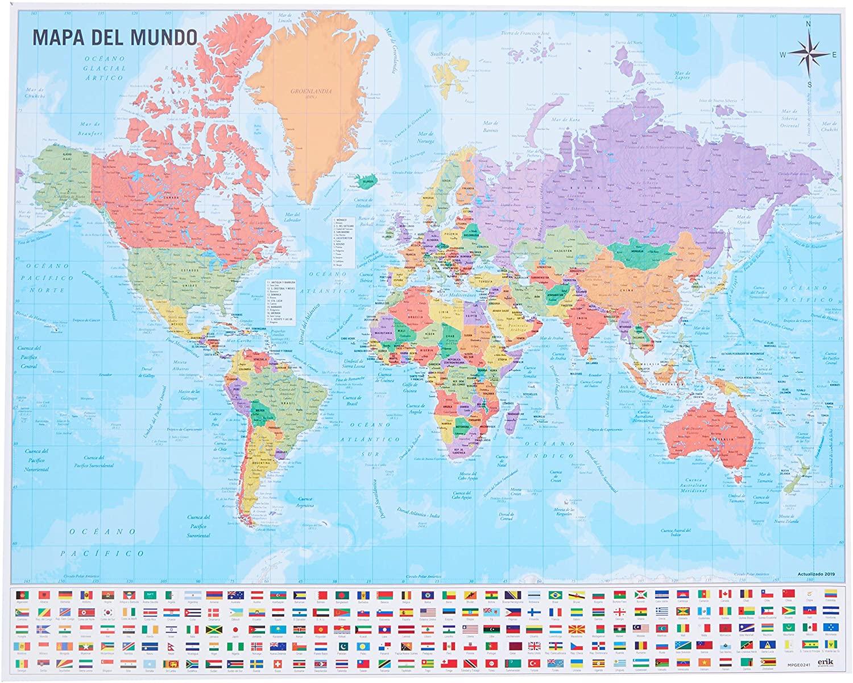 Mapa del Mundo por 2€ (El Corte Inglés y Amazon)