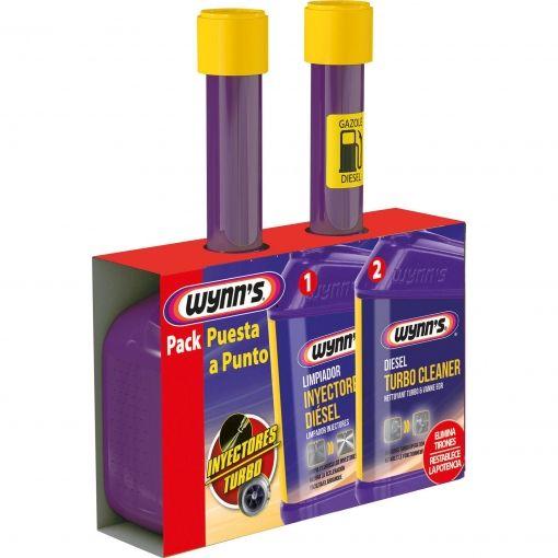 2x Pack Puesta a Punto Limpiador de Inyectores Diésel + Limpiador del Turbo Diésel Wynn's