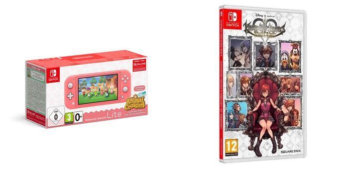 Consola Nintendo Switch Lite + Animal Crossing New Horizons + Kingdom Hearts Melody of Memory + 3 Meses NSO