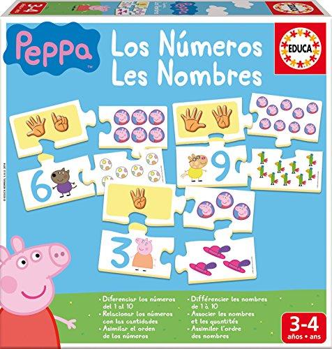 Juego Los Números de Peppa Pig