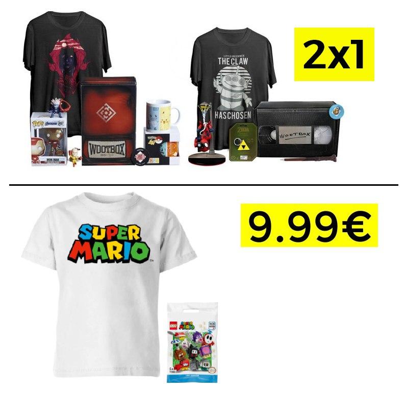 2x1 Mystery Box Varios modelos 12.9€/ud // Pack camiseta Super Mario + figura por 9.99€