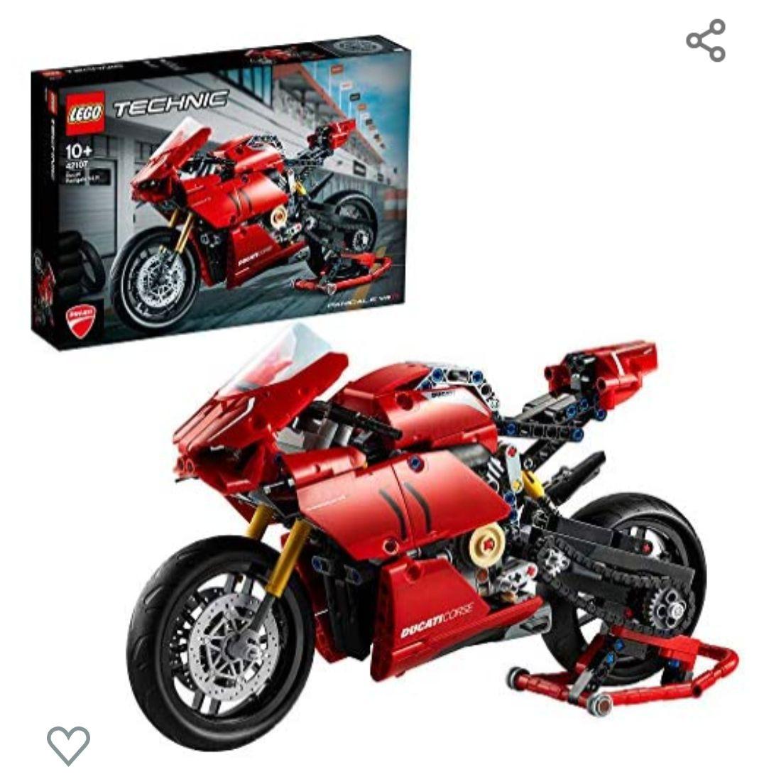 LEGO42107TechnicDucatiPanigaleV4RMotocicleta ModelodeExposiciónColeccionableMotoSuperbike