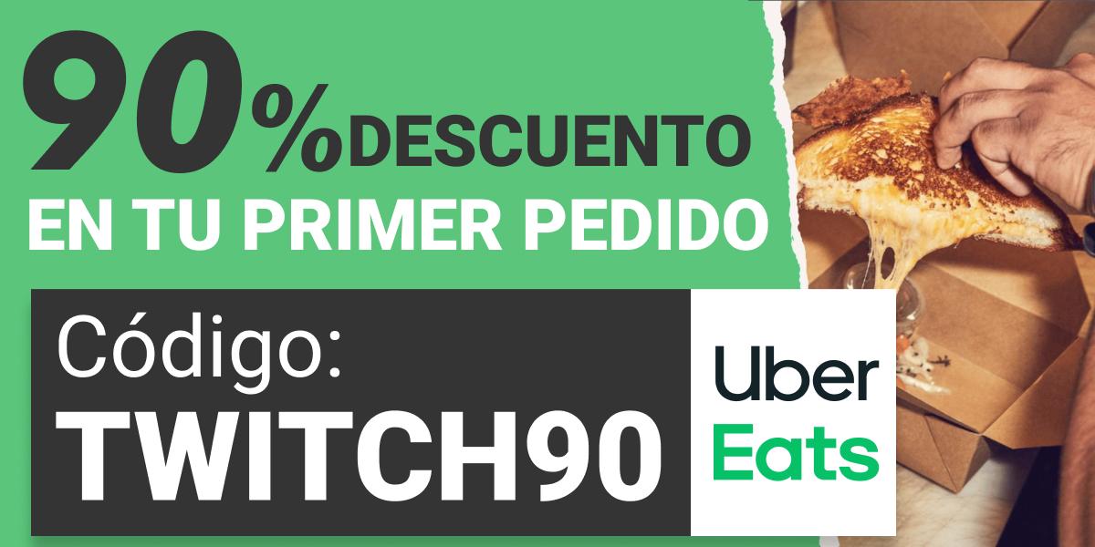 90% DESCUENTO Primer Pedido UberEats