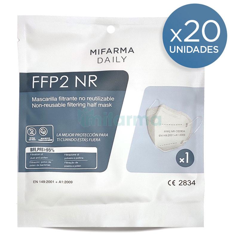 20 mascarillas ffp2 + gel hidroalcohólico de regalo (envío gratis a partir de 39€, código EPSEG39)