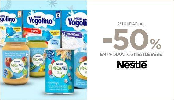 50% de descuento en 2° unidad en marca Nestle