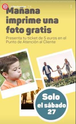 CC Baricentro: el sábado 27 presenta un tiquet de compra de 5€ y puedes imprimir una foto gratis