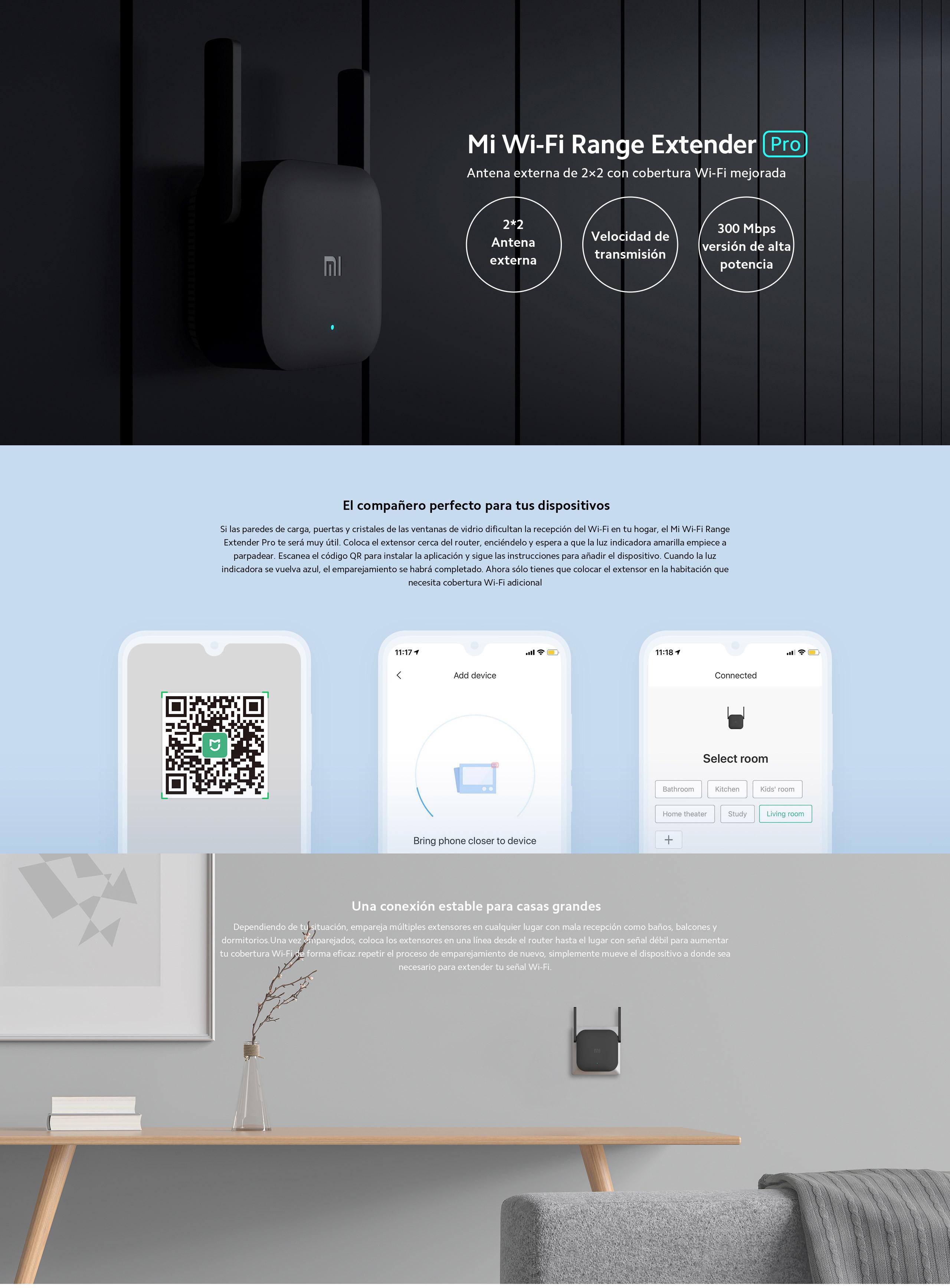Set completo Xiaomi smart home + Xiaomi wifi extender pro