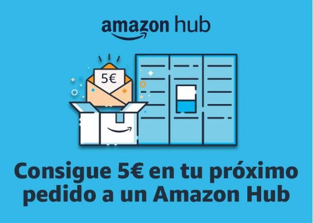 5€ en tu primer pedido con Amazon Hub (seleccionados)