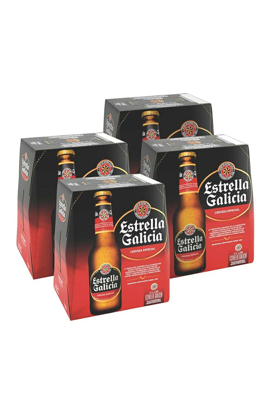 Ahorra 21% al comprar 20 € de productos seleccionados Estrella Galicia Especial 4 packs x 6 unidades 25cl Cerveza Estrella Galicia