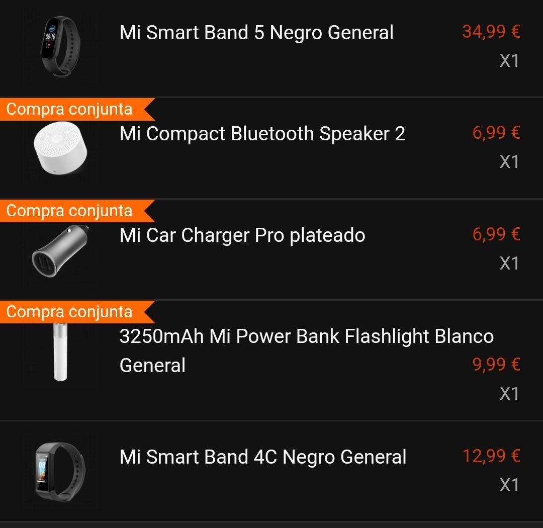 Mi Band 5 + Mi Band 4C + Mi Compact Bluetooth Speaker 2 + Mi Power Bank + Mi Car Charger Pro