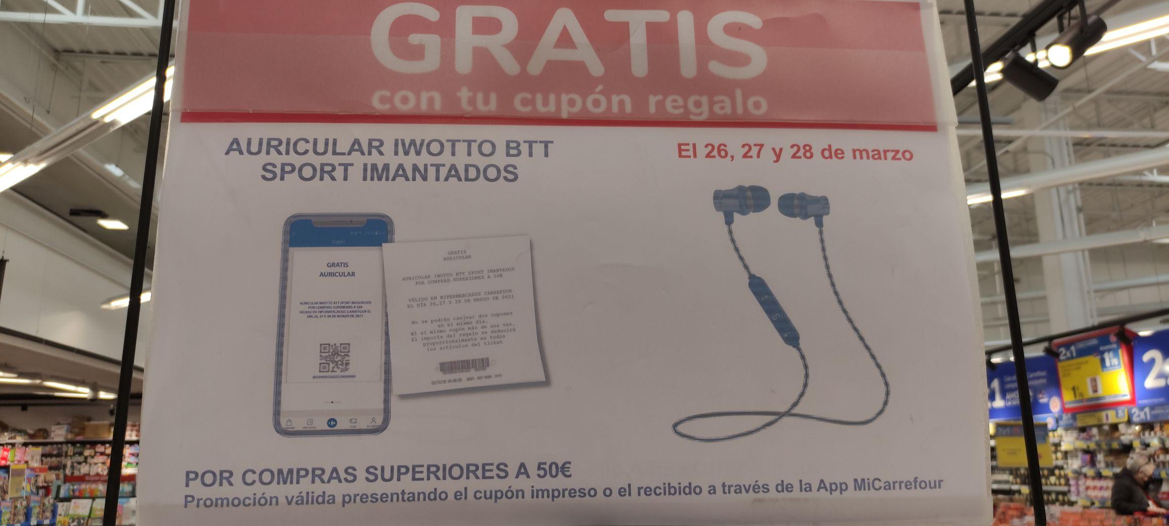 Auriculares gratis por compras superiores a 50 euros, Ciudad de la Imagen Madrid