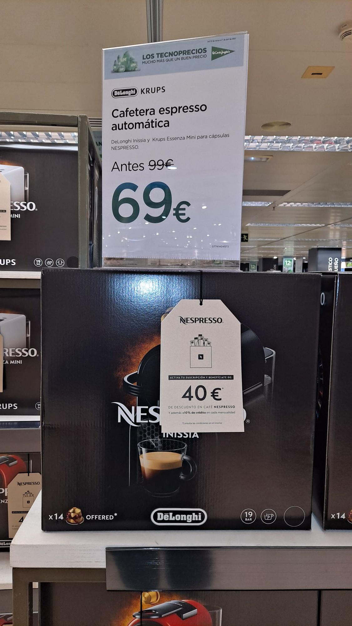 Nexpresso Inicia y Essenza Mini. Oferta y descuentos en Capsulas