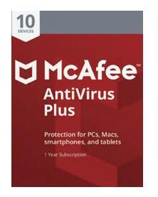 Key Antivirus McAfee de 10 dispositivos para 1 Año