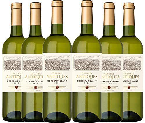 6 botellas Vino blanco de Bourdeos Collines Antiques