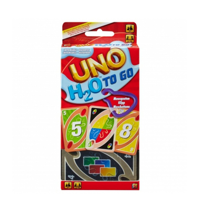 2 unidades de UNO H20 To Go, juego de cartas