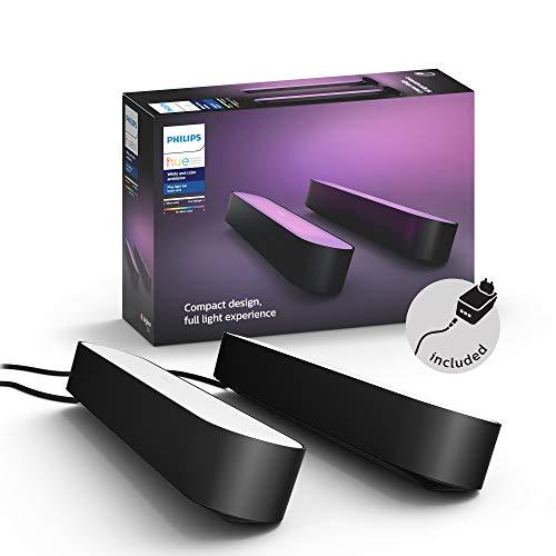 Philips Hue Play 2x Barra de luz regulable compatible con Amazon Alexa, Apple HomeKit y Google Home