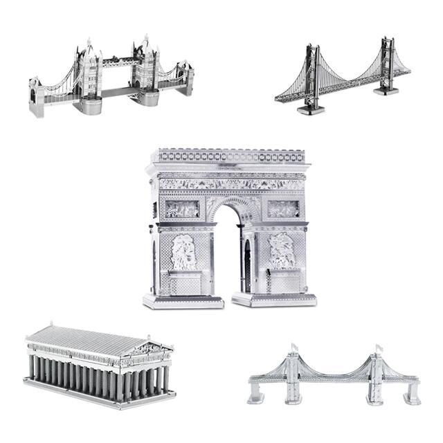Puzles metálicos Metalworks: Monumentos, figuras, vehículos, etc.. por 3,99€