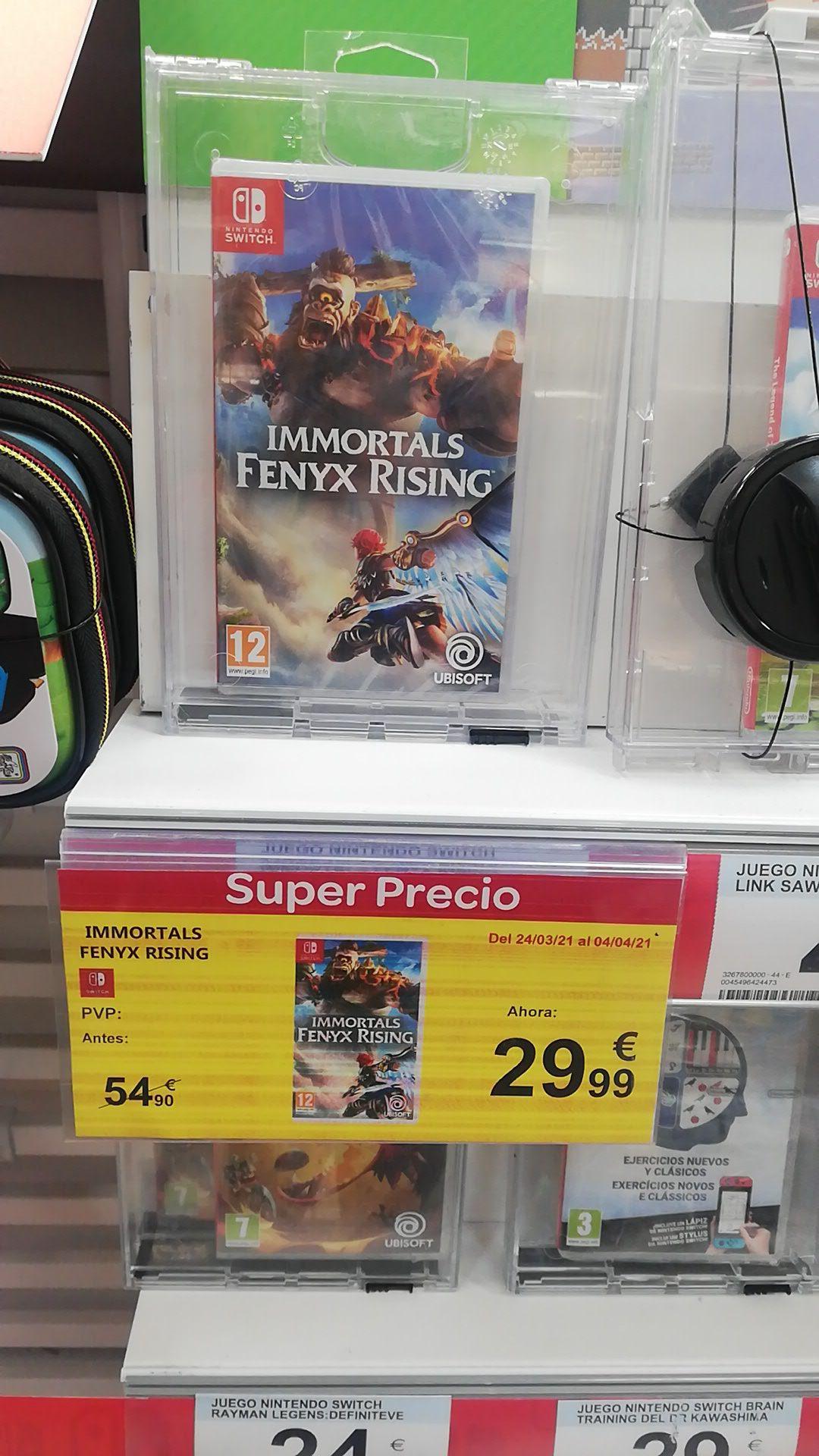 Inmortals Fenix Rising Nintendo Switch Carrefour