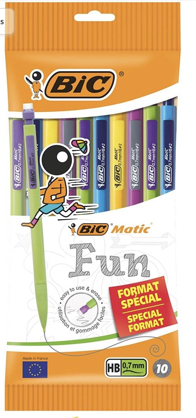 BIC Matic Fun - Portaminas (0,7 mm, HB, 10 unidades),