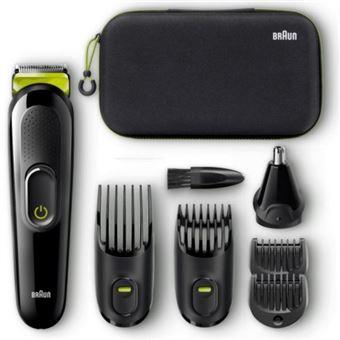 Afeitadora - Braun Sideboard MGK3921, Autonomía 40 min, 13 niveles corte, Negro y verde