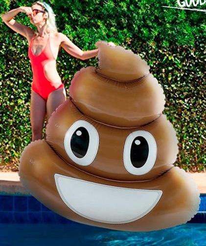 Colchoneta gigante Emoji caca