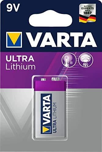 Pilas de 9 V Varta Lithium 6LR61
