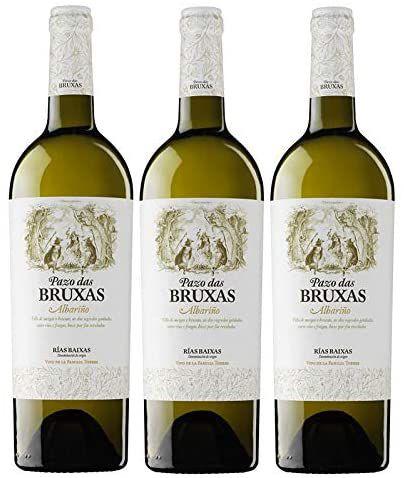 Pazo Das Bruxas, Vino Blanco - 3 botellas de 750 ml, Total: 2250 ml