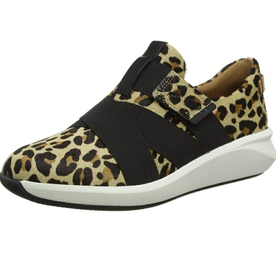 CLARKS - Zapatillas mujer leopardo -Talla 37