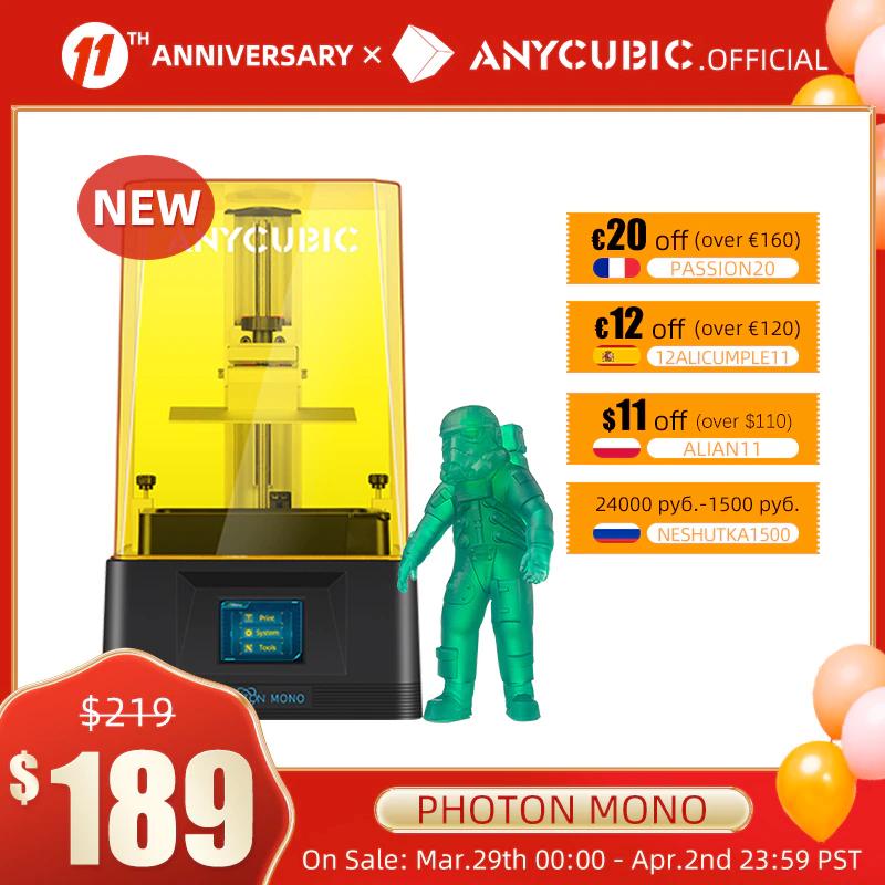 ANYCUBIC - Impresora 3D de resina UV Photon Mono