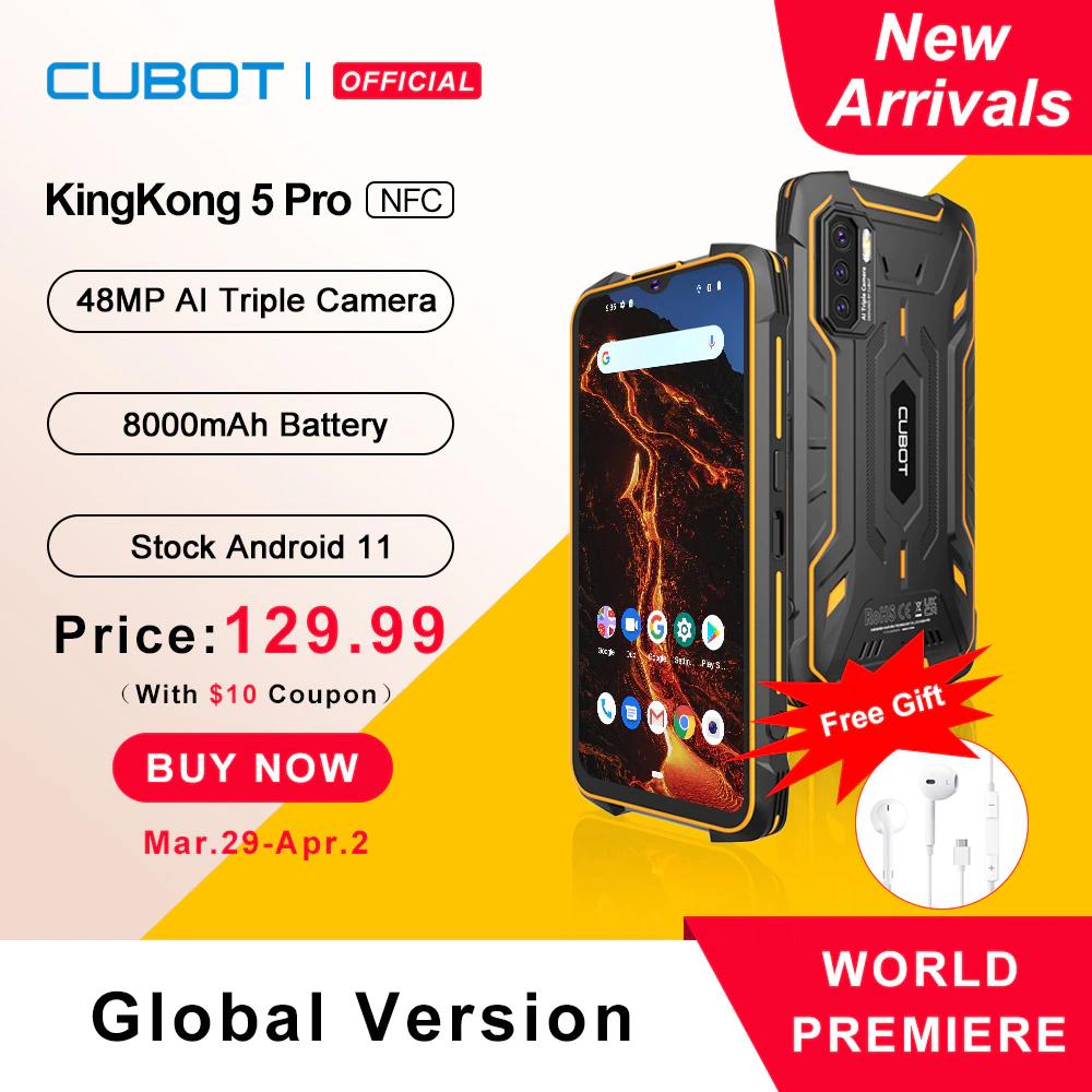 Cubot KingKong 5 Pro 4GB/64GB 8000mAh Batería NFC 48MP IP68/IP69K