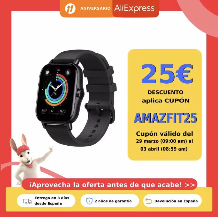 Amazfit GTS 2 Envio desde España Aliexpress Plaza