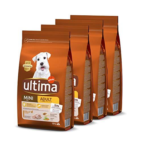 (OFERTA FLASH) Ultima Pienso para Perros Mini con Pollo - Pack de 4 x 1.5 kg