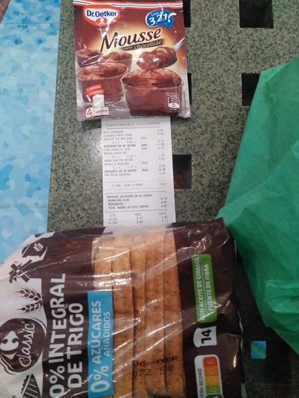 Pan de molde integral Carrefour 0,50 (caduca 6 abril) Carrefour Getafe (CC Bulevar)