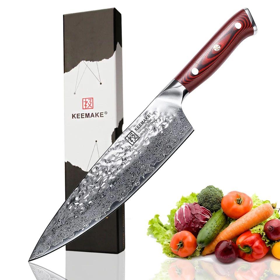 """Cuchillo chef 8"""" damasco"""