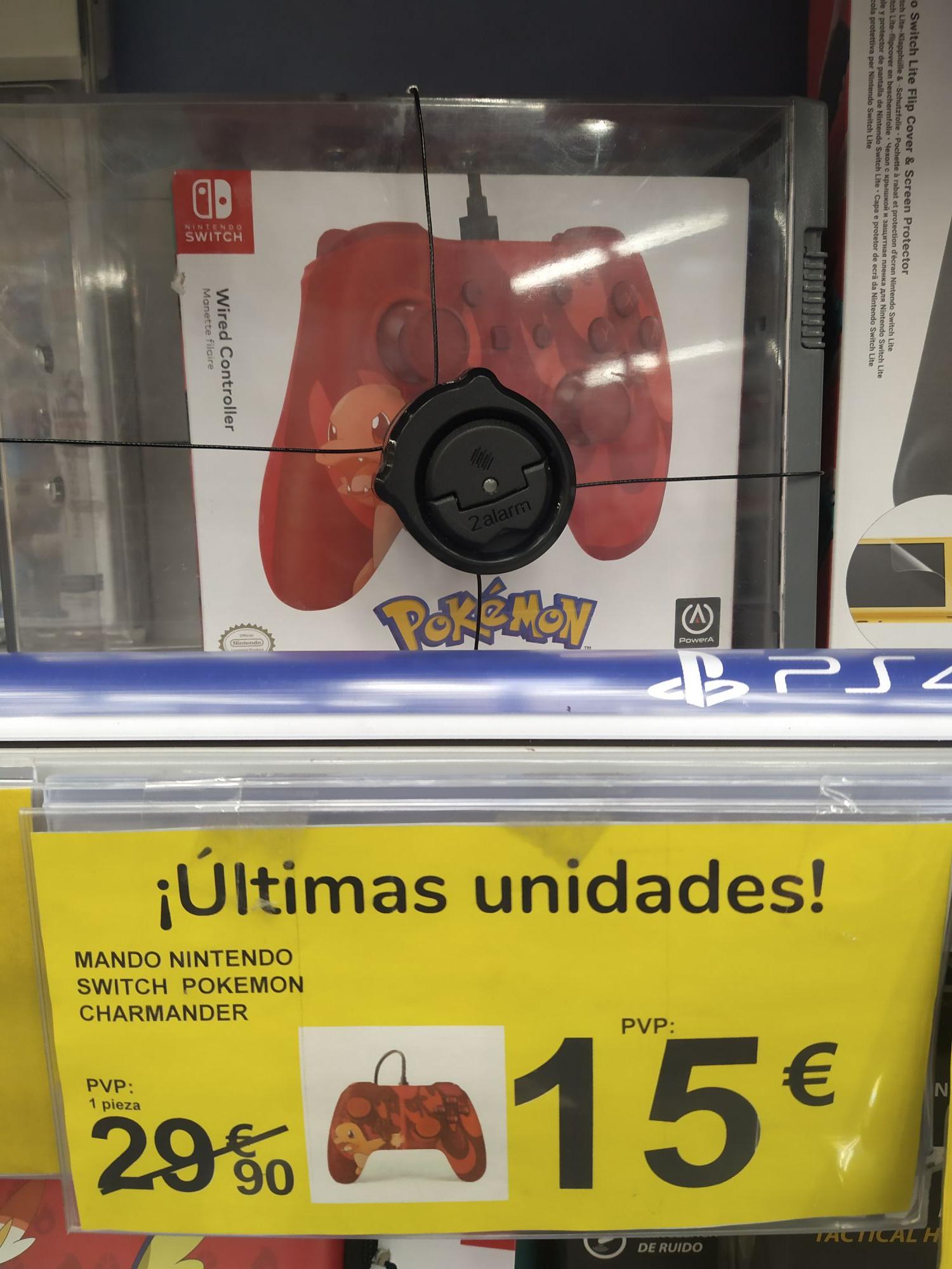 Mando Switch Pokemon en el Carrefour de Burgos