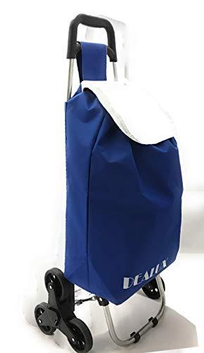 Carro Shoppy Tris de color azul con seis ruedas
