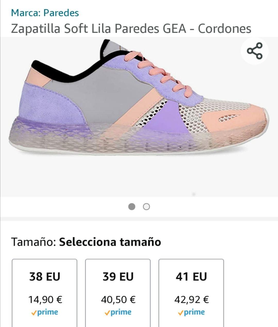 Zapatillas PAREDES por 20€ y menos
