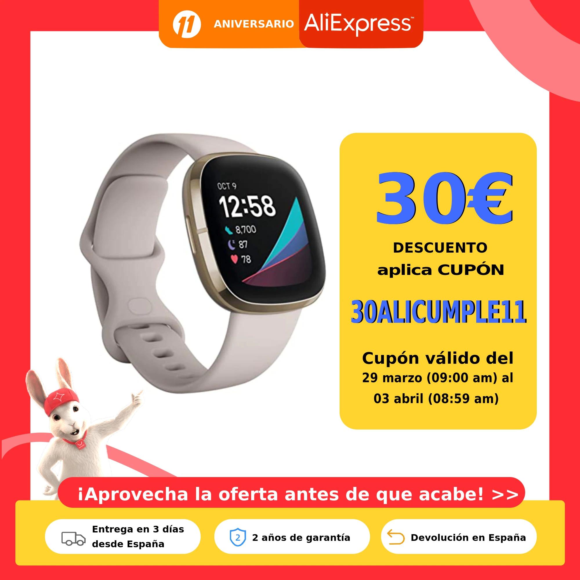 Fitbit Sense - Smartwatch con herramientas Avanzadas de la Salud del Corazón. Envío desde España