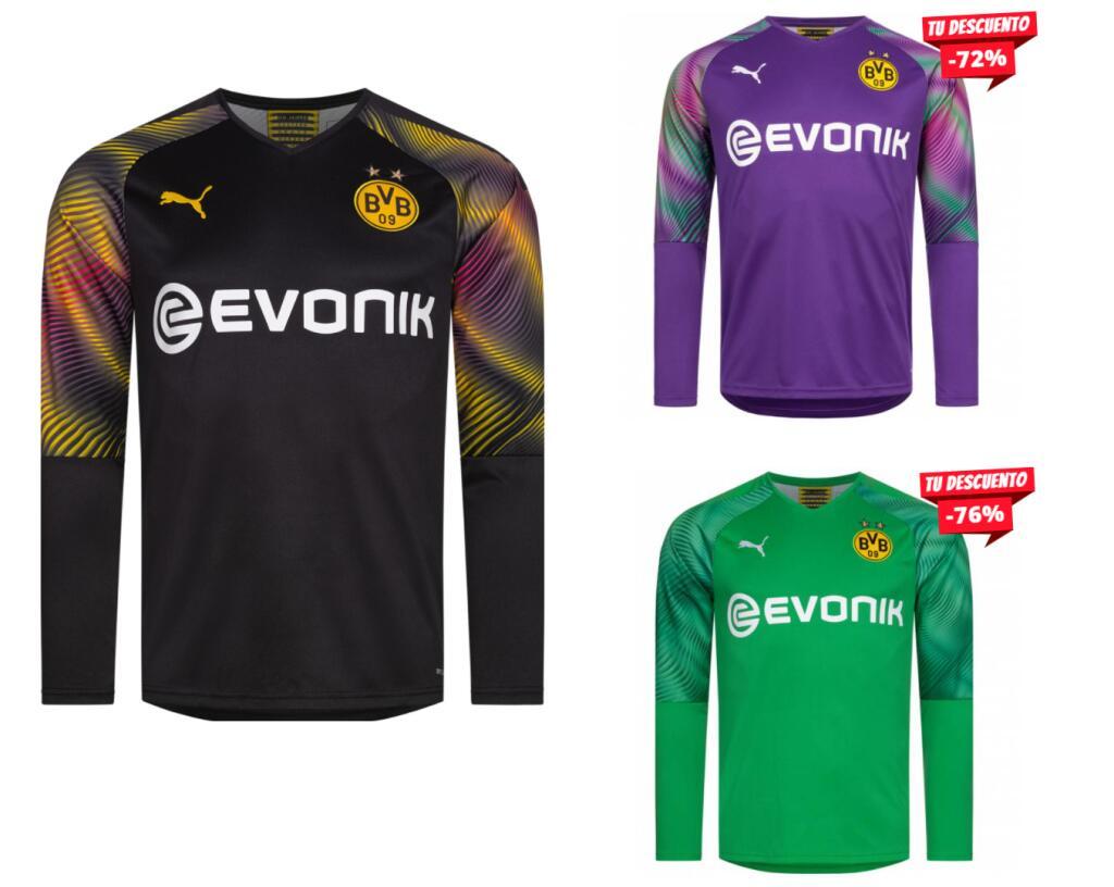 En 3 Modelos - Camiseta de Portero Borussia Dortmund 19/20 Puma